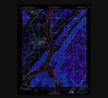 USGS TOPO Map Alabama AL Bridgeport 303332 1945 24000 Inverted Unisex T-Shirt