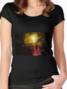 July 4 BBQ Fireworks in Cuenca III Women's Fitted Scoop T-Shirt