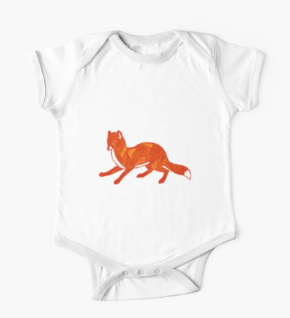 Red Fox Stained Glass One Piece - Short Sleeve