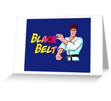 BLACK BELT - SEGA MASTER SYSTEM Greeting Card
