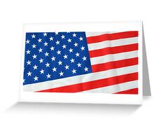 American Flag 3 Greeting Card