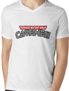 "Teenage Mutant Ninja Cavemen ""Dinosaurs"" Mens V-Neck T-Shirt"