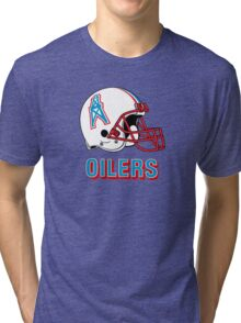 HOUSTON OILERS FOOTBALL RETRO (2) Tri-blend T-Shirt