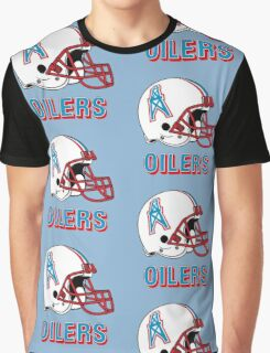 HOUSTON OILERS FOOTBALL RETRO (2) Graphic T-Shirt