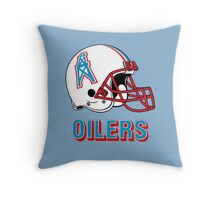 HOUSTON OILERS FOOTBALL RETRO (2) Throw Pillow