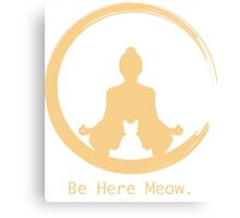 Yoga With Meow Canvas Print