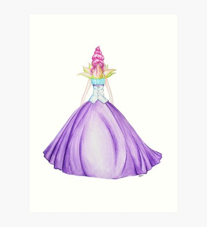 Waterlily, the princess Art Print