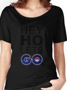 hey ho pokemon go white Women's Relaxed Fit T-Shirt