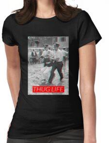 Bernie Thug Life (3D) Womens Fitted T-Shirt