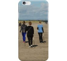Nordic Walking On West Sands iPhone Case/Skin