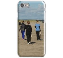 Nordic Walking On West Sands iPhone Case/Skin