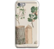 Studies of the trunk, blossoms and fruit of a wild apple tree (Malus sylvestris) , Ludwig Pfleger (German, ) iPhone Case/Skin