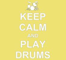 Play Drums (White) Kids Tee