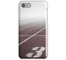 Track and Field Fog Scenery iPhone Case/Skin