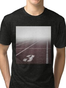 Track and Field Fog Scenery Tri-blend T-Shirt