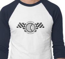 Steve McQueen Solar Productions Sports Car Racing Black Text Men's Baseball ¾ T-Shirt