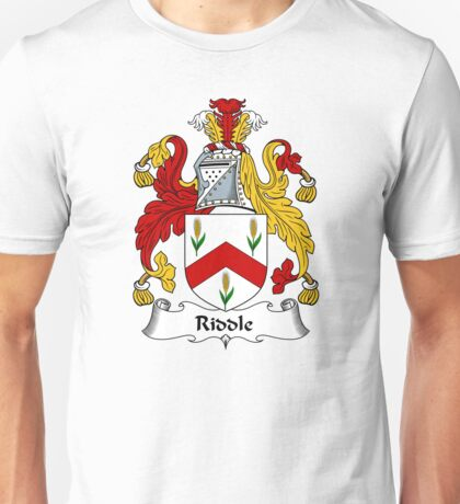 Riddle Coat of Arms / Riddle Family Crest Unisex T-Shirt