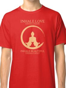 Inhale exhale Yoga With Cat Classic T-Shirt