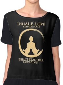 Inhale exhale Yoga With Cat Chiffon Top