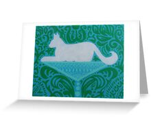 Cat-tini Greeting Card