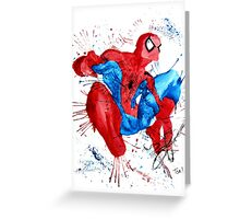 Spider-Man Watercolor Splash Greeting Card
