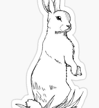 Standing Rabbit Sticker