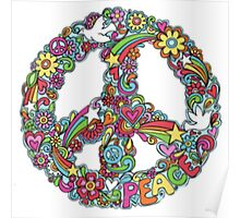 Colourful Peace Sign Poster