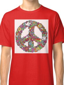 Colourful Peace Sign Classic T-Shirt