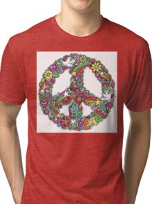 Colourful Peace Sign Tri-blend T-Shirt