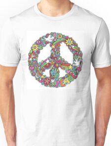 Colourful Peace Sign Unisex T-Shirt