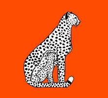 Cheetahs (black and white version) Unisex T-Shirt