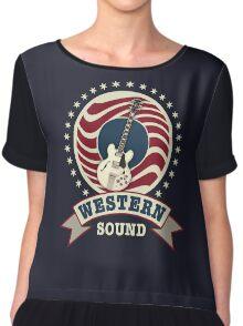 Cool Western Sound Chiffon Top