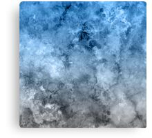 blue white marble Canvas Print