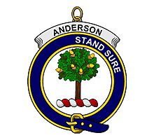 Anderson Clan Badge Photographic Print