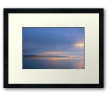 Landscape beautiful colors Framed Print
