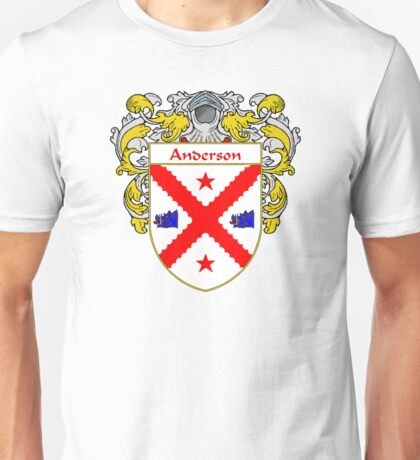 Anderson Coat of Arms/Family Crest Unisex T-Shirt