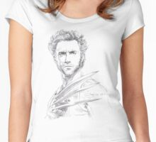 Hugh Jackman - Wolverine 2B Sketch Women's Fitted Scoop T-Shirt
