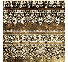 Lace fabric pattern with flowers and lace grunge vintage style background Photographic Print