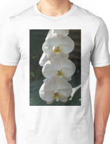White Orchid Trio - Exotic Elegance Times Three Unisex T-Shirt