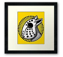 Bull Terrier Hockey Mask  Framed Print