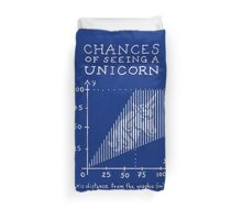 Chances of Seeing a Unicorn Duvet Cover