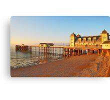 Golden Hour Penarth Pier Canvas Print