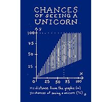 Chances of Seeing a Unicorn Photographic Print