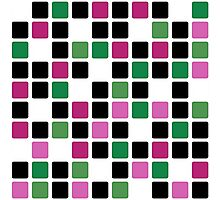 Abstract modern squares seamless pattern texture bright colors background Photographic Print