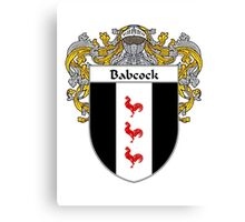 Babcock Coat of Arms/Family Crest Canvas Print