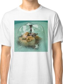 Flower Fountain - Whimsical Water Feature to Delight You Classic T-Shirt