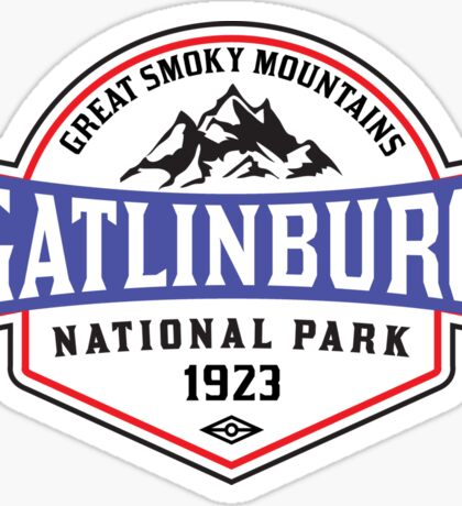 GATLINBURG TENNESSEE GREAT SMOKY MOUNTAINS NATIONAL PARK SMOKIES Sticker