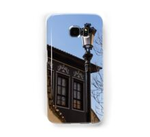 Perfectly Aligned - Intricate Ironwork Streetlight and Classic Revival House Samsung Galaxy Case/Skin