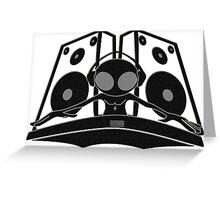 black DJ Greeting Card