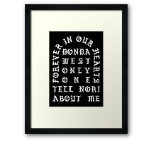Donda West Framed Print